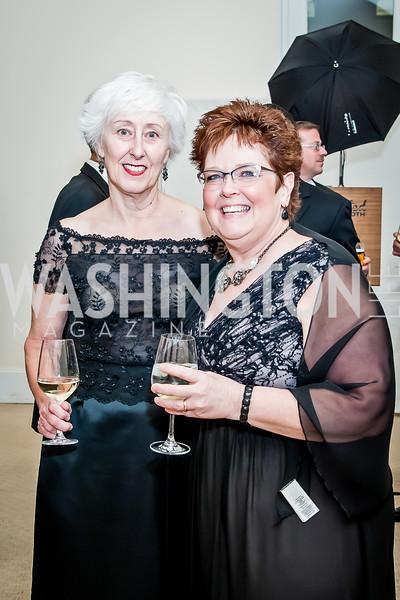 Sharon Carpenter, Pam Wills. Photo by Tony Powell. NEA Foundation Gala. Building Museum. February 12, 2016