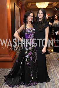 Mina Massaro-Giordano, Mariagiulia Trapanese. Photo by Tony Powell. 2016 NIAF Gala. Marriott Wardman Park. October 15, 2016
