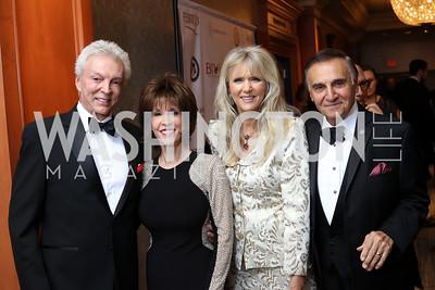 John Griffeth and Deana Martin, Alyse and Tony Lo Bianco. Photo by Tony Powell. 2016 NIAF Gala. Marriott Wardman Park. October 15, 2016