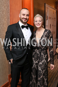 John Bonaccorsi, Maria Indovina. Photo by Tony Powell. 2016 NIAF Gala. Marriott Wardman Park. October 15, 2016
