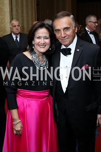 Anita McBride, Tony Lo Bianco. Photo by Tony Powell. 2016 NIAF Gala. Marriott Wardman Park. October 15, 2016