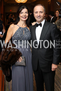 Micaela Varricchio and Italy Amb. Armando Varricchio. Photo by Tony Powell. 2016 NIAF Gala. Marriott Wardman Park. October 15, 2016