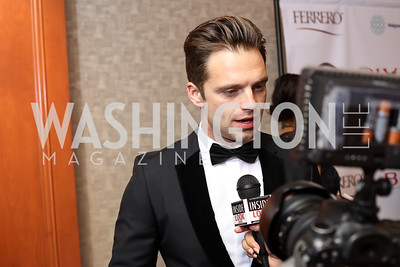 Sebastian Stan. Photo by Tony Powell. 2016 NIAF Gala. Marriott Wardman Park. October 15, 2016