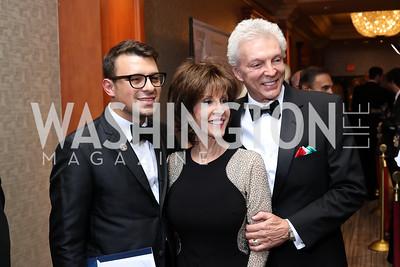 John Viola, Deana Martin and John Griffeth. Photo by Tony Powell. 2016 NIAF Gala. Marriott Wardman Park. October 15, 2016