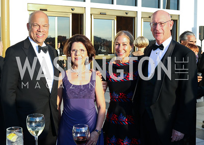Sec. Jeh Johnson, Eliana Davidson, Susan DiMarco, Larry Burgess. Photo by Tony Powell. 2016 NSO Gala. Kennedy Center. September 25, 2016