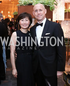 Janice Kim and Tony Otten. Photo by Tony Powell. 2016 NSO Gala. Kennedy Center. September 25, 2016