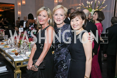 Mariella Trager, Ann Stock, Janice Kim. Photo by Tony Powell. 2016 NSO Gala. Kennedy Center. September 25, 2016