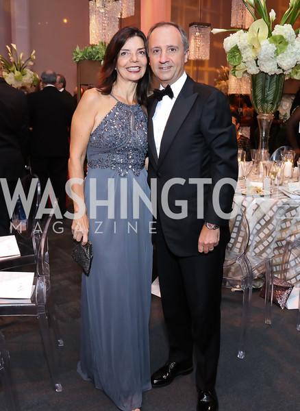 Micaela Varricchio and Italy Amb. Armando Varricchio. Photo by Tony Powell. 2016 NSO Gala. Kennedy Center. September 25, 2016