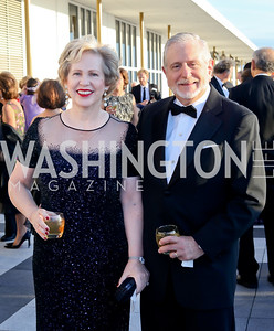 Lisa Barry and Jim Gale. Photo by Tony Powell. 2016 NSO Gala. Kennedy Center. September 25, 2016