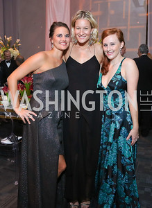 Kristen Jarvis, Caroline Chewning, Allison Ford. Photo by Tony Powell. 2016 NSO Gala. Kennedy Center. September 25, 2016