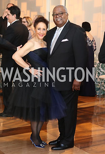 Sheila Johnson and William Newman. Photo by Tony Powell. 2016 NSO Gala. Kennedy Center. September 25, 2016