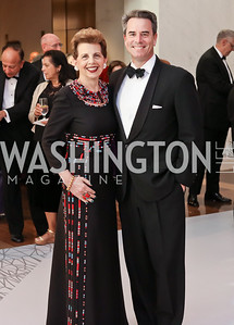Adrienne Arsht, Stuart Holliday. Photo by Tony Powell. 2016 NSO Gala. Kennedy Center. September 25, 2016