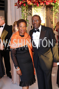 Beatrice and Anthony Welters. Photo by Tony Powell. 2016 NSO Gala. Kennedy Center. September 25, 2016