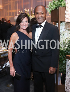 Gala Co-Chairs Denise Grant and Frank Raines. Photo by Tony Powell. 2016 NSO Gala. Kennedy Center. September 25, 2016