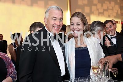 Tom Davis, Tamera Luzzatto. Photo by Tony Powell. 2016 NSO Gala. Kennedy Center. September 25, 2016