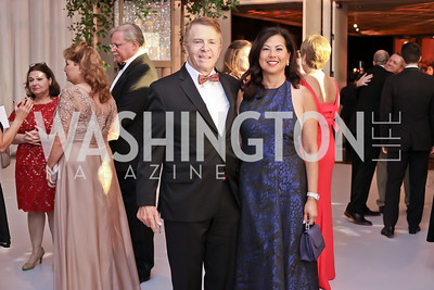 Gary and Tina Mather. Photo by Tony Powell. 2016 NSO Gala. Kennedy Center. September 25, 2016