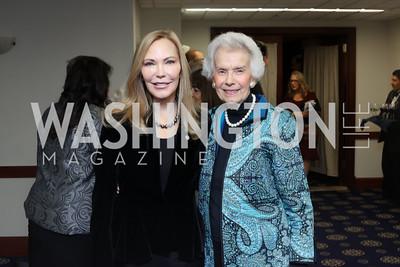 Susan Lehrman, Marjorie Billington. Photo by Tony Powell. 2016 National Dialogue Awards. Press Club. November 17, 2016