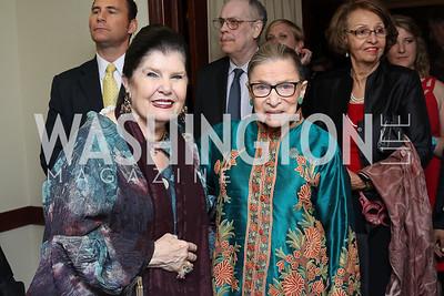 Judith Terra, Justice Ruth Bader Ginsburg. Photo by Tony Powell. 2016 National Dialogue Awards. Press Club. November 17, 2016