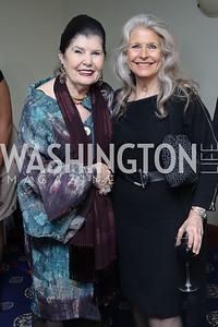 Judith Terra, Barbara Hawthorn. Photo by Tony Powell. 2016 National Dialogue Awards. Press Club. November 17, 2016