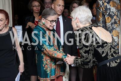 Justice Ruth Bader Ginsburg, Jan Du Plain. Photo by Tony Powell. 2016 National Dialogue Awards. Press Club. November 17, 2016