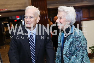 Librarian of Congress Emeritus James Billington and Marjorie Billington. Photo by Tony Powell. 2016 National Dialogue Awards. Press Club. November 17, 2016