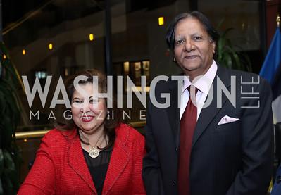 Shaista and Ray Mahmood. Photo by Tony Powell. 2016 National Dialogue Awards. Press Club. November 17, 2016