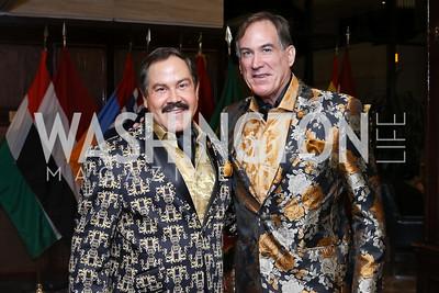 Jose Alberto Ucles, Tom Noll. Photo by Tony Powell. 2016 National Dialogue Awards. Press Club. November 17, 2016