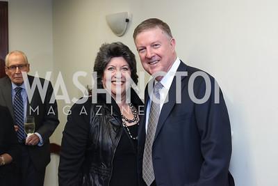 Carol Schwartz, Doug Wheeler. Photo by Tony Powell. 2016 National Dialogue Awards. Press Club. November 17, 2016