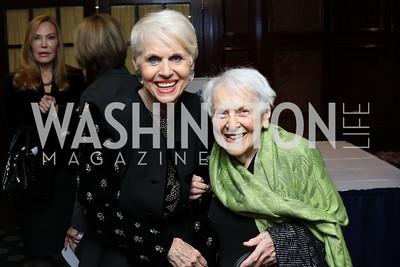 Jan Du Plain, Gloria Thrasher. Photo by Tony Powell. 2016 National Dialogue Awards. Press Club. November 17, 2016