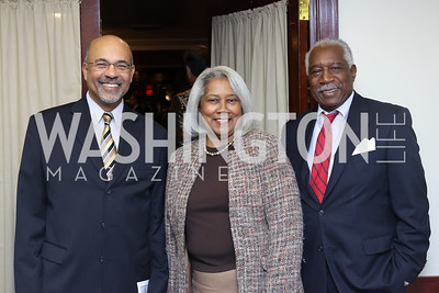 UDC President Ronald Mason, Rise and Carl Cole. Photo by Tony Powell. 2016 National Dialogue Awards. Press Club. November 17, 2016