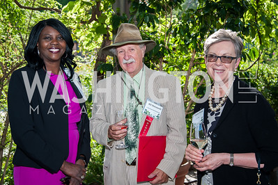Chavonda Jacobs-Young, Bill Matuszeski, Catherine Wotecki. Photo by Tony Powell. 2016 National Arboretum Dinner. June 13, 2016