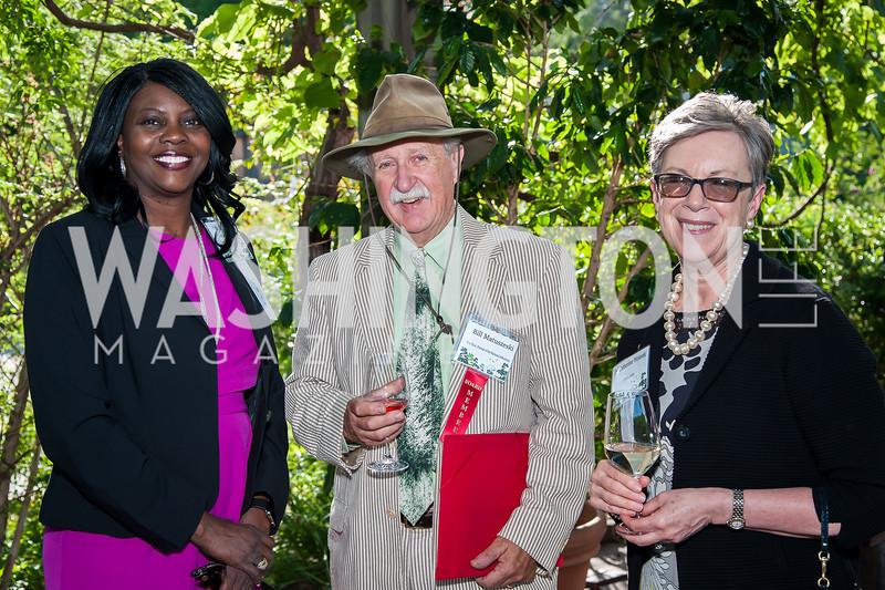 Chavonda Jacobs-Young, Bill Matuszeski, Catherine Wotecki. Photo by Tony Powell. 2016 National Arboretum Dinner. June 13, 2016