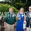 Liz Dugan, Scott Aker, Cathy Milligan, Woody Price. Photo by Tony Powell. 2016 National Arboretum Dinner. June 13, 2016