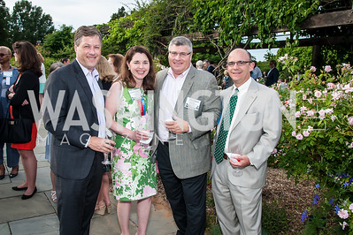 Christopher and Jennifer Hatcher, Tom Cormier, Rob Rosado. Photo by Tony Powell. 2016 National Arboretum Dinner. June 13, 2016