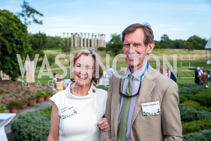 Pamela Raymont-Simpson and Charles Simpson. Photo by Tony Powell. 2016 National Arboretum Dinner. June 13, 2016