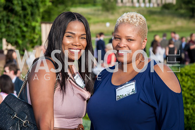 Tonya Alstan, Jacque Manning. Photo by Tony Powell. 2016 National Arboretum Dinner. June 13, 2016