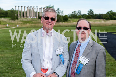 John Anderson, David Malech. Photo by Tony Powell. 2016 National Arboretum Dinner. June 13, 2016