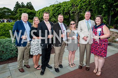 Robert Barlett, Robin Smithmyer, Bill and  Tracie Eck, Ryan and Laurin Grubb. Photo by Tony Powell. 2016 National Arboretum Dinner. June 13, 2016