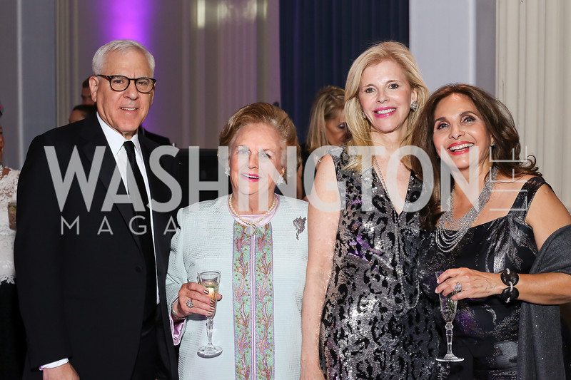 David Rubenstein, Jacqueline Badger Mars, Opera Ball Co-Chairs Jane Cafritz and Samia Farouki. Photo by Tony Powell. 2016 Opera Ball. OAS. May 21, 2016