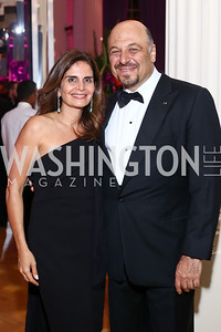 Luma Kawar and former Jordan Amb. Karim Kawar. Photo by Tony Powell. 2016 Opera Ball. OAS. May 21, 2016