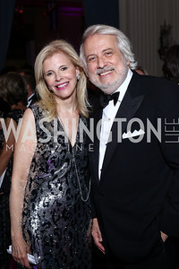 Opera Ball Co-Chair Jane Cafritz, Maestro Philippe Auguin. Photo by Tony Powell. 2016 Opera Ball. OAS. May 21, 2016