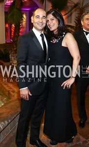 Tarek and Shiva Farouki. Photo by Tony Powell. 2016 Opera Ball. OAS. May 21, 2016