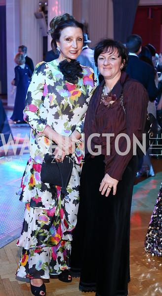 Aniko Gaal Schott, Hungary Amb. Dr. Réka Szemerkényi. Photo by Tony Powell. 2016 Opera Ball. OAS. May 21, 2016