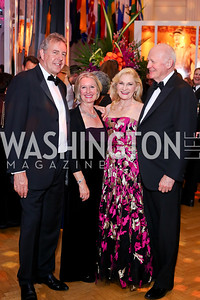Britain Amb. Kim Darroch and Vanessa Darroch, Susan Pillsbury and Michael Pillsbury. Photo by Tony Powell. 2016 Opera Ball. OAS. May 21, 2016