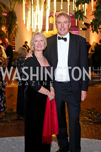 Vanessa Darroch and Britain Amb. Kim Darroch. Photo by Tony Powell. 2016 Opera Ball. OAS. May 21, 2016