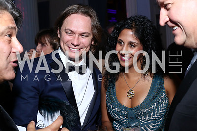 Cosabella CEO Guido Campello and Sapna Palep. Photo by Tony Powell. 2016 Opera Ball. OAS. May 21, 2016