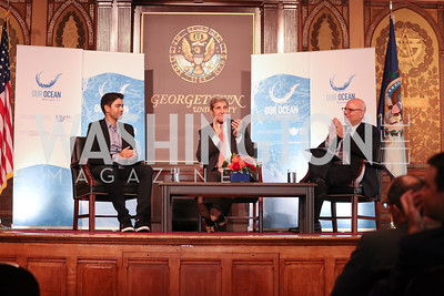 Adrian Grenier, Sec. John Kerry. Photo by Tony Powell. 2016 Our Ocean Conference. GU. September 16, 2016