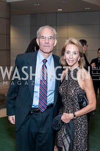 David Kinney, Mary Anne Schneider. Photo by Tony Powell. 2016 Out of the Shadows Dinner. Reagan Building. September 28, 2016