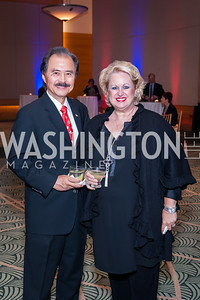 Yong and Meranda Kim. Photo by Tony Powell. 2016 Out of the Shadows Dinner. Reagan Building. September 28, 2016