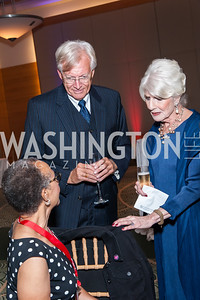 Gurteen Taylor Schiavo, John Hagedorn, Diane Rehm. Photo by Tony Powell. 2016 Out of the Shadows Dinner. Reagan Building. September 28, 2016